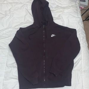 Purple nike zip up hoodie